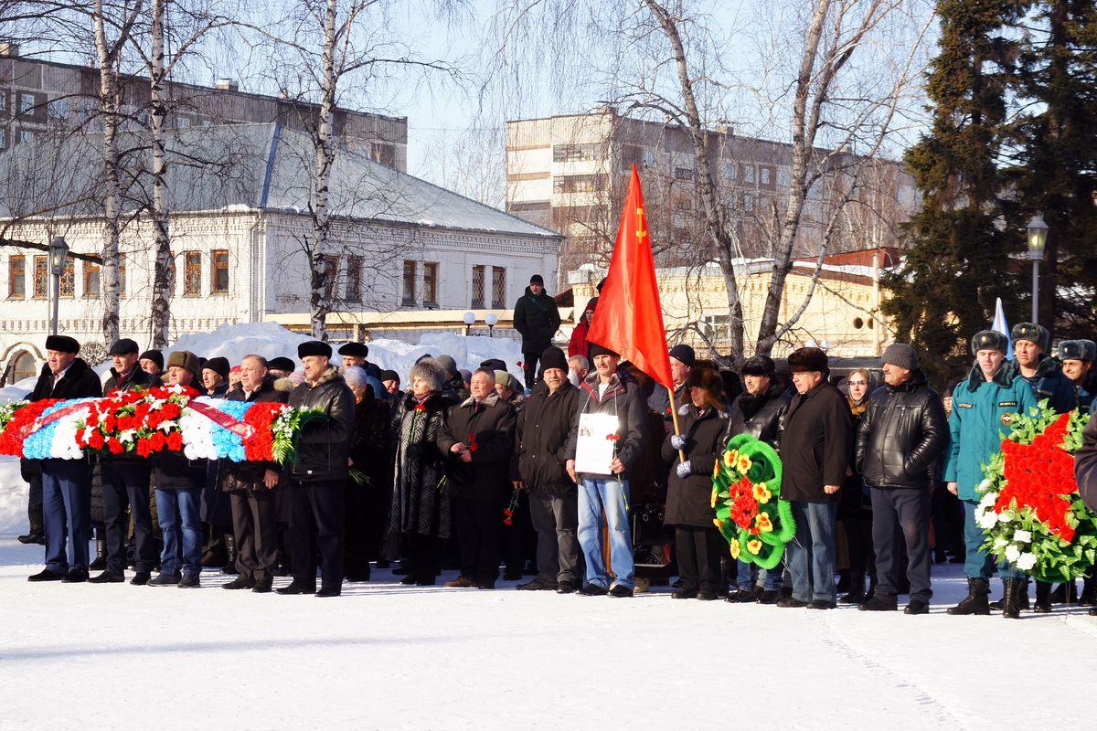Участие в митинге, посвященном дню вывода войск из Афганистана